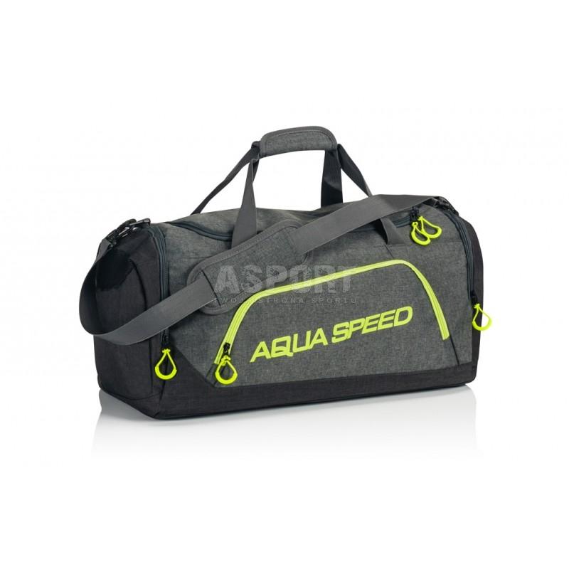 9ec77e69d004e Torba sportowa, na basen, na siłownie, rozmiar L szaro-zielony Aqua ...