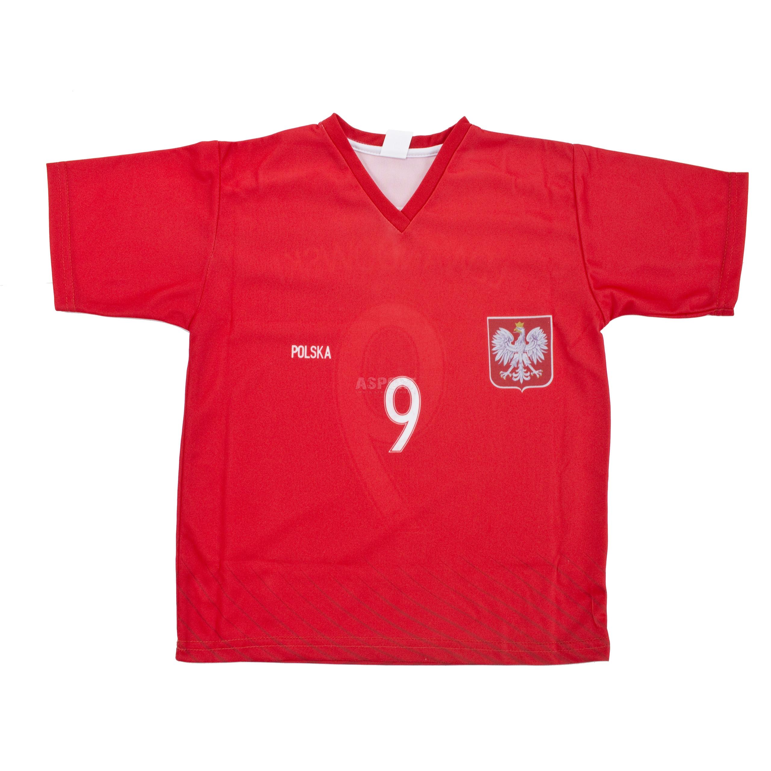 89e8e49a1 Komplet: koszulka + spodenki kibica, piłkarskie,dziecięce, replika  LEWANDOWSKI