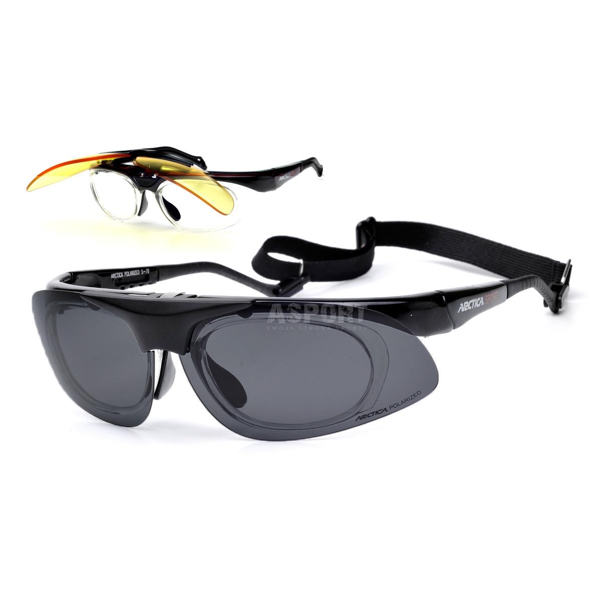 Okulary przeciwsłoneczne, ramka na szkła korekcyjne +