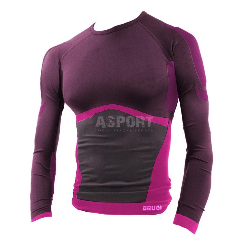 93fa61350 Koszulka damska, bezszwowa, termoaktywna 2RAK Brugi - Kolor ciemnoróżowy