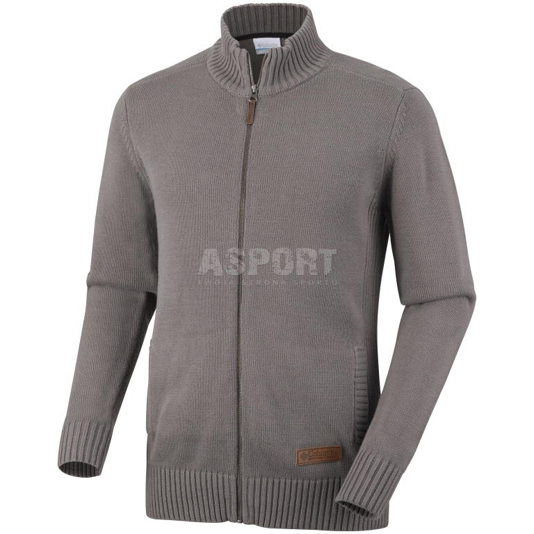 18ffb092d4c067 Bluza męska, sweter rozpinany 100% bawełna ROC™ Columbia - Kolor szary