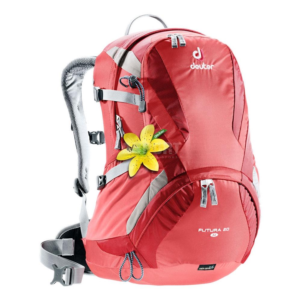 bed461a5633a6 Plecak turystyczny, rowerowy, damski FUTURA 20 SL Deuter - Kolor koralowy