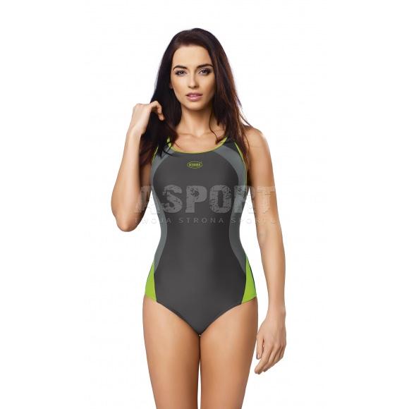 9a49beb627c3d9 Strój kąpielowy jednoczęściowy ALINKA gWinner - Kolor grafitowo-zielony