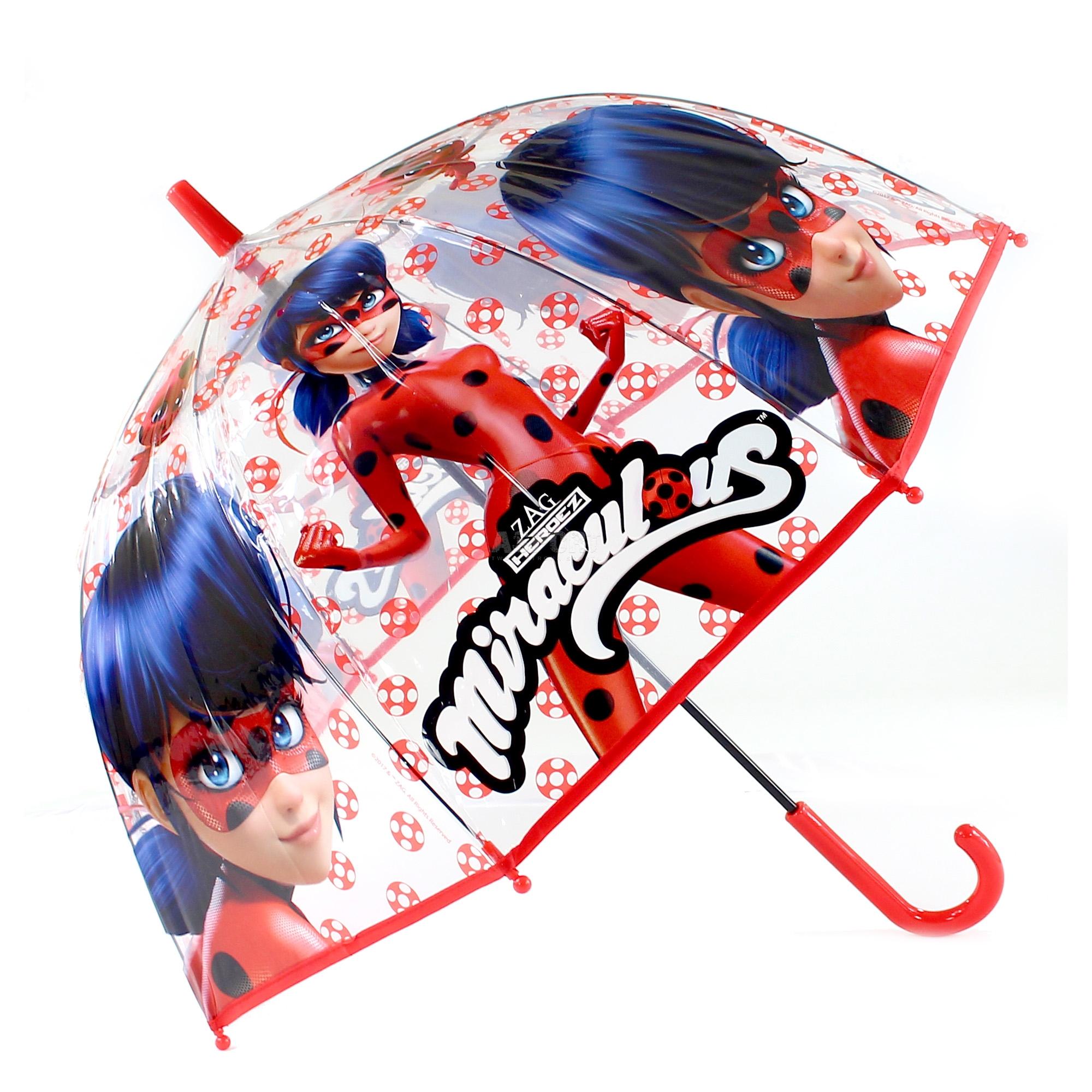 3318851a9dd5f Parasol dziecięcy, manualny 67 cm MIRACULUM - BIEDRONKA I CZARNY KOT ...