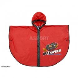 Ponczo przeciwdeszczowe, peleryna dla dzieci CARS czerwone Disney