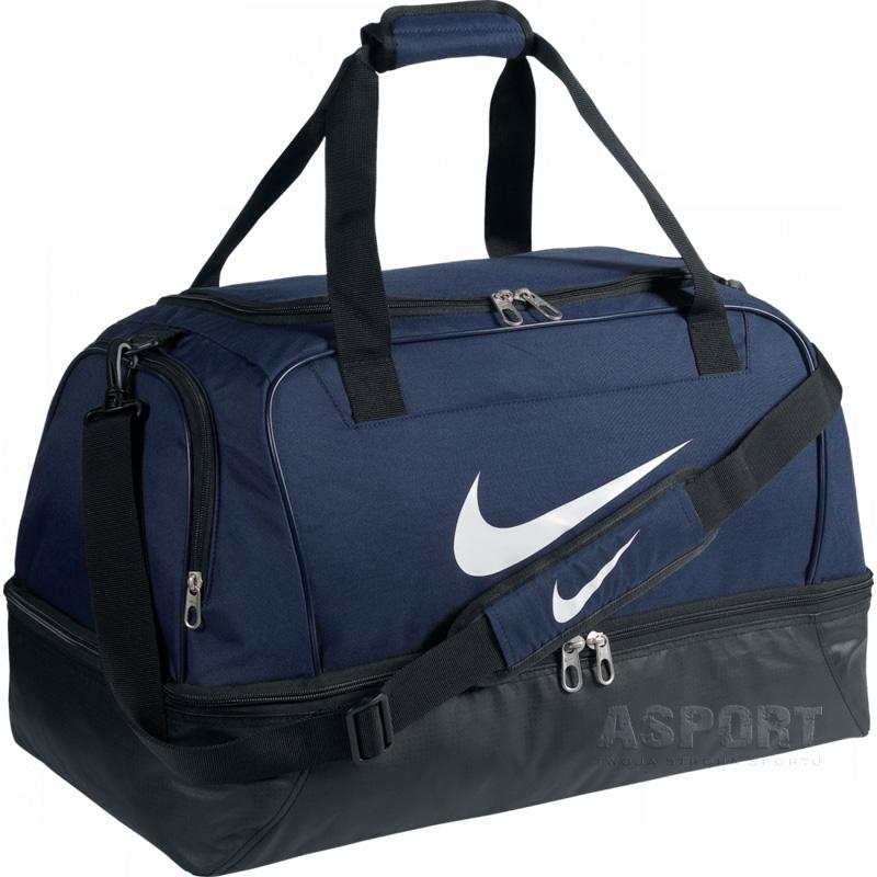 7d92f4a850659 Torba sportowa, podróżna, usztywniane dno TEAM MEDIUM HARDCASE 46L Nike -  Kolor granatowy