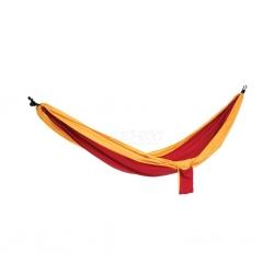 Hamak nylonowy, jednoosobowy, 280x140 cm COCOON czerwono-żółty Spokey