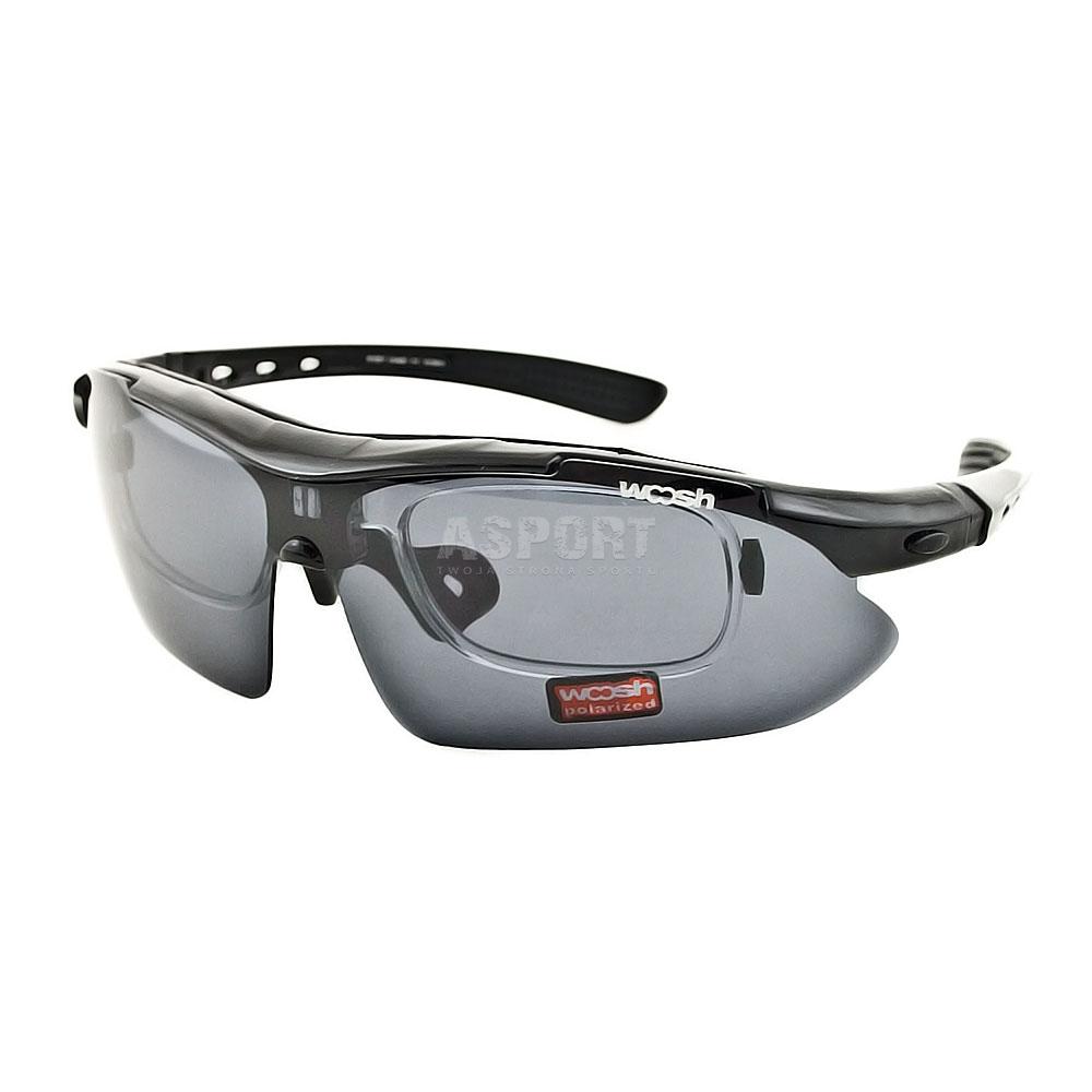 Okulary polaryzacyjne, rowerowe, z ramką na szkła korekcyjne
